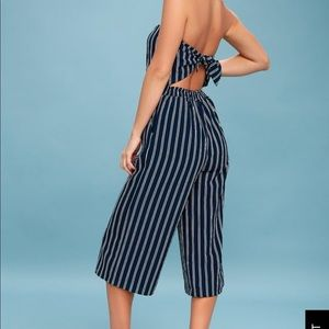 Lulu's striped jumpsuit